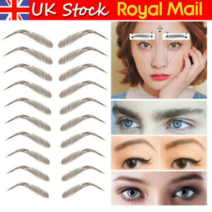 3D Eyebrow Sticker Bionic Brow Eyebrow Embroidery Transfer Waterproof Tattoo UK~