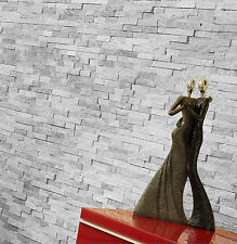 1m² OF 36x10cm CLOUD GREY SPLITFACE RANDOM SLATE WALL MOSAICS TILES