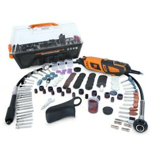 WEN Rotary Tool 1.3 Amp Variable Speed Steady-Grip 190-Piece Accessory Kit Case
