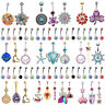 Lot 15x Crystal Navel Belly Button Ring Barbell 14G Women Body Piercing Jewelry