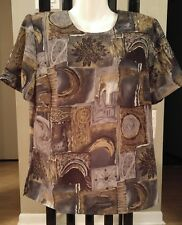 NWT KATHY CHE NEW YORK SHORT SLEEVE UNIQUE TOP BLOUSE SIZE MED