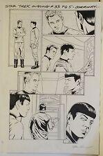 "Star Trek #33 Page 5 Original Art Joe Corroney Signed Kirk & Spock 11 x 17"""