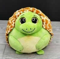 "TY Beanie Ballz CUTE ZOOM THE TURTLE BALL 7"" Plush STUFFED ANIMAL Green Brown"