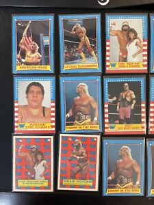 1987 Topps WWF Wrestling lot 21 cards. Bret Hart Hulk Hogan Randy savage Giant