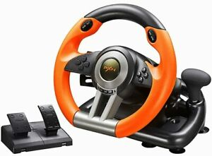 PXN V3ii Pro Racing Car Gaming Steering Wheel PS4 PC XBOX N Switch PS3 - ORANGE