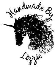 Sello de goma Láser Personalizados-Unicornio hecho a mano por