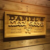 wpa0204 Name Personalized MAN CAVE with Est. Year Bar Wood Engraved Wooden Sign