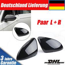 Paar Schwarz Außenspiegelgehäuse Spiegelkappen Für VW Golf MK7 VII GTI 2x L+R DE