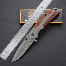 New Browning DA43 Folding Pocket Knife Combat Knife Titanium Steel Tactical