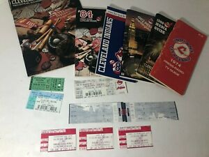 Lot of Cleveland Indians Radio/Media Guides & Ticket Stubs 1980's GREAT MEMORIES