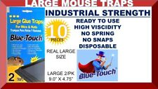 10X LARGE MOUSE GLUE TRAPS MICE RAT RODENT PEST CONTROL PEANUT SCENT 10 PIECES