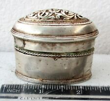 HIGH QUALITY! Antique Silver Betelnut Betel Nut Lime Box 19th c.