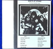 kiss EGO'S AT STAKE  LP  BOOTLEG 33 Live