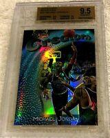 MICHAEL JORDAN 1997 TOPPS FINEST SILVER REFRACTOR SER # /1090 BGS 9.5 9.5 10 9.5