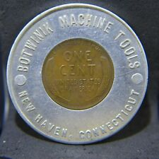1948 Encased Cent Botwinik Machine Tools, New Haven, Ct - Lucky Penny