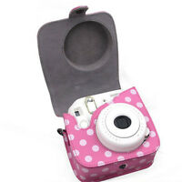 Classic PU Leather Polka Dot Camera Case Bag For FUJIFILM Instax Mini8 Mini8s