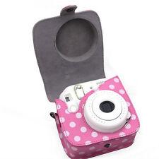 Clásico De Cuero Pu Polka Dot Cámara Funda Bolsa Para Fujifilm Instax mini8 mini8s
