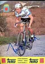 JURGEN KRAFT Teka Signed Autographe cycling Signé autogramm german champion