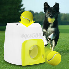 USA Automatic Pet Dog Launcher Tennis Ball Toy Interact Fetch Training