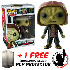 FUNKO POP DC SUICIDE SQUAD KILLER CROC HOODED EXCLUSIVE + FREE POP PROTECTOR