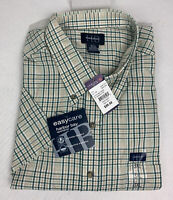 Harbor Bay Sportshirt Button Up Short Sleeve Shirt Plaid Men's 3XL