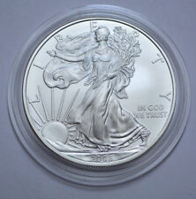 2008-W AMERICAN SILVER EAGLE BURNISHED BULLION, COIN IN ORIGINAL CAPSULE !