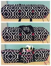 Cricut Maker Convertibe DustCover/Tote Bag Quatrefoil w/ Hot Pink Piping