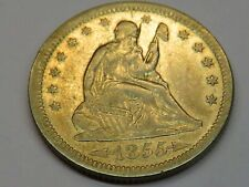 1855 SEATED LIBERTY Quarter 25C Very Nice Condition You Grade It #SL1
