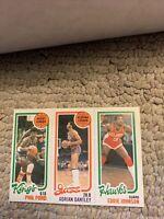 Phil Ford Adrian Dantley Eddie Johnson 1980 81 Topps Basketball Card Cb4