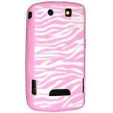 Pink & White Zebra Laser Cut Silicone Skin Case Cover For BlackBerry Storm 9530