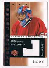 2002-03 UD PREMIER COLLECTION JERSEYS JOSE THEODORE JERSEY 1 COLOR 163/299