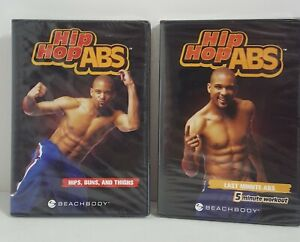 LOT OF 2 HIP HOP ABS DVDs  SHAUN T'S HIPS BUNS AND THIGHS + LAST MINUTE ABS