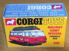 Corgi 508 Holiday Camp Commer Bus Empty Repro Box Only