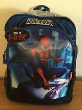 "Marvel Spider-man 3D Graphic 16"" Large Backpack - NEW"