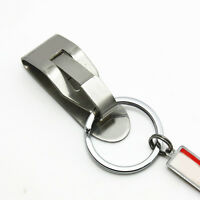 Stainless Steel Compact Quick Release Keychain Belt Clip Key Ring Holder Hot