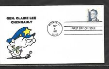 USA 1990 HAND PAINTED RICHARD CLAIRE CHENNAULT ELLIS ANIMATED FIRST DAY COVER