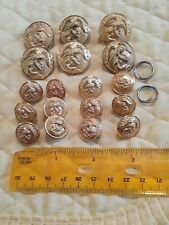 Us Marine Corps Vintage Officer Buttons w/ 3 Clips Usmc 6 Lg., 12 Sm.