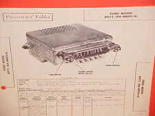 1948 1949 FORD SUPER DELUXE V-8 SIX CONVERTIBLE RADIO SERVICE MANUAL BROCHURE 1