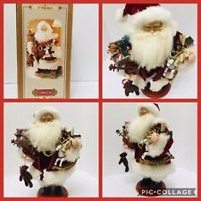 Grandeur Noel Christmas Decor Detailed Fabric Santa Claus Collector Edition 16""