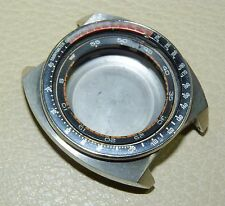 seiko 6139-6002 steel chronograph PEPSI WATCH CASE FOR PARTS PROJECT REPAIR