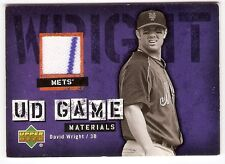 DAVID WRIGHT JERSEY PIN 2006 UPPER DECK UD GAME MATERIALS UD-WR NEW YORK METS