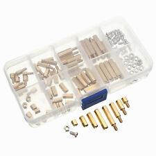 120PC M3 Brass Pillars Standoffs Circuit Board PCB Nut Screws Hex Assortment Kit