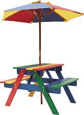 Kinderpicknickset Rainbow Kindersitzgruppe Kindergarnituren mit Schirm