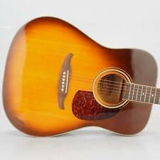 1980's-90's Fender Malibu Acoustic 6-String Guitar Sunburst w/ Case #38939