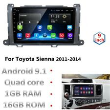 """9"""" 2.5D Android 9.1 Car Radio DVD Stereo Player GPS for TOYOTA Sienna 20011~2014"""