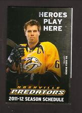 Nashville Predators--Shea Weber--2011-12 Pocket Schedule