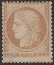 "FRANCE STAMP TIMBRE N° 36 a "" CERES  10c BISTRE-BRUN  1870 "" NEUF xx TB SIGNE"