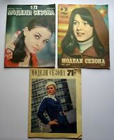 1971-1978 Set of 3 Magazines Season models Soviet Fashion USSR Russian