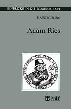 Adam Ries by Wussing, Hans  New 9783815425008 Fast Free Shipping,,