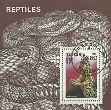Timbre Reptiles Serpents Tanzanie BF217 o lot 7806